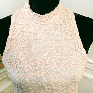 Altar'd State peach lace dress